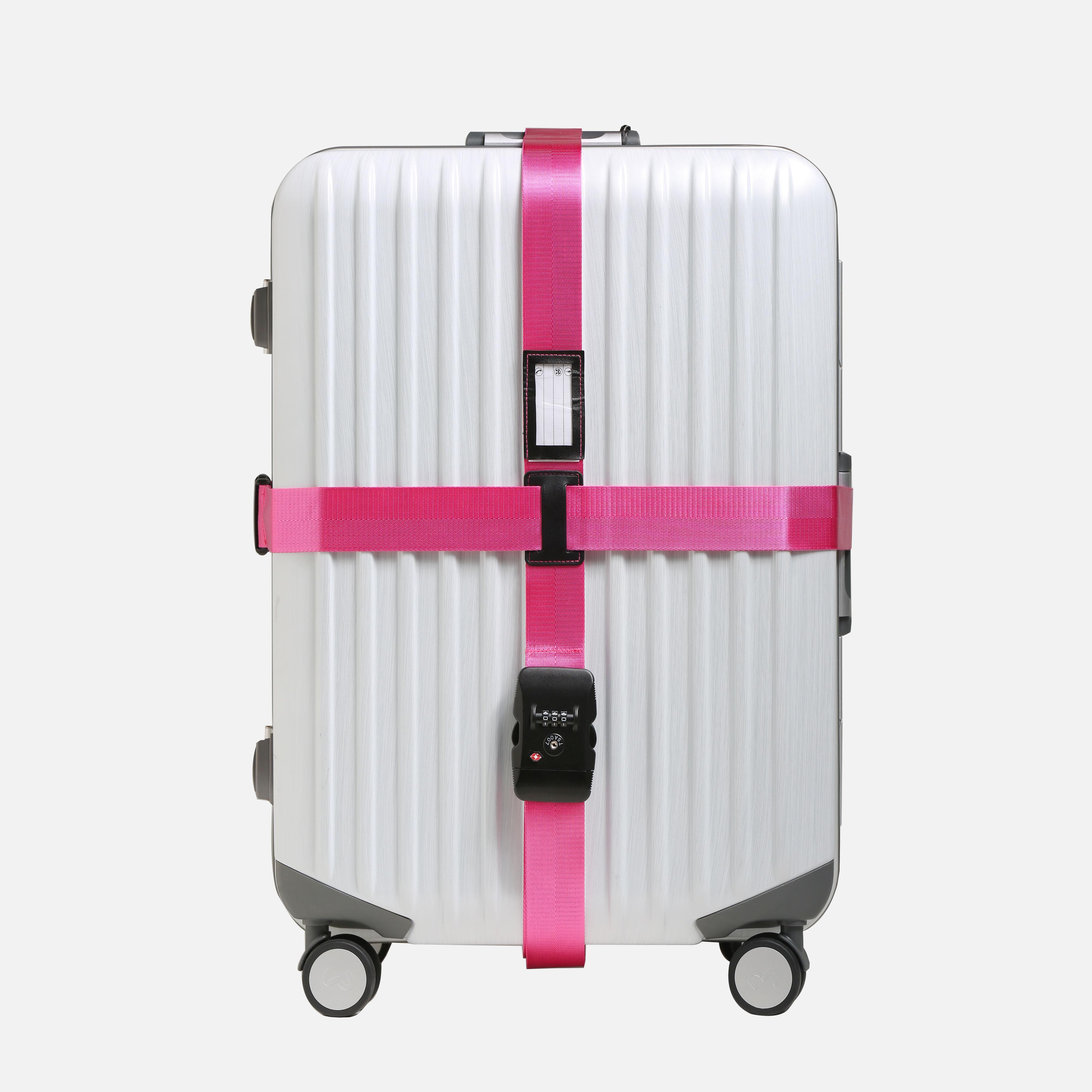 行李箱打包帶 旅行箱海關TSA鎖十字打包帶 拉桿箱密碼鎖捆綁帶