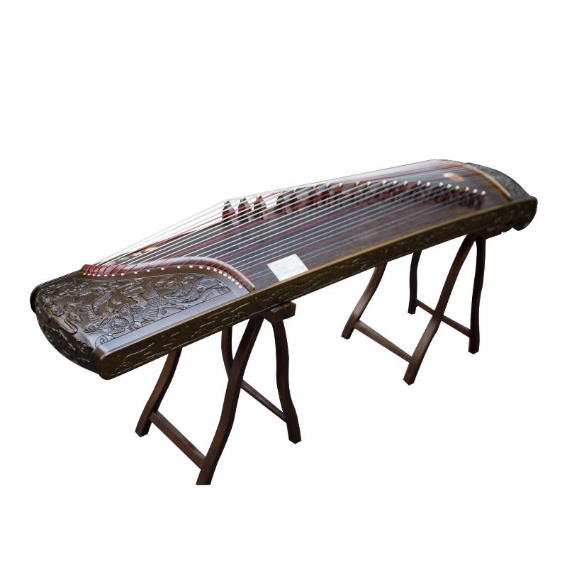 专业古筝深雕龙凤新楠木演奏级扬州实木初学考级古筝琴 仙声乐器