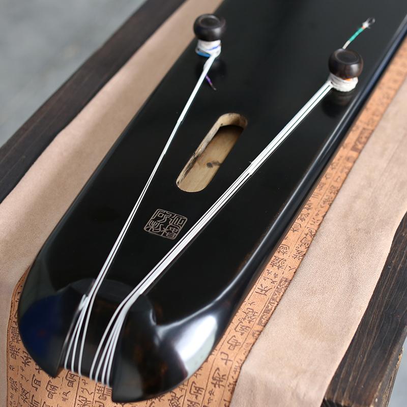 仙声乐器大师胡延椿闲斫老杉木生漆混沌式收藏纯手工古琴