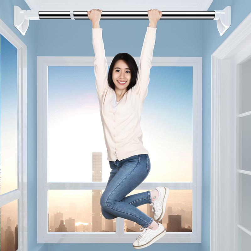 免打孔伸缩杆卧室窗帘杆晾衣杆卫生间浴帘杆晾衣架升缩撑杆子衣柜
