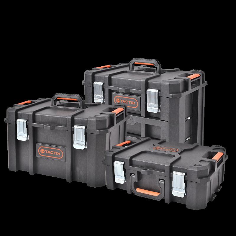 拓为TACTIX 组合式工具箱 出口德国多功能大号手推车载塑料工具车