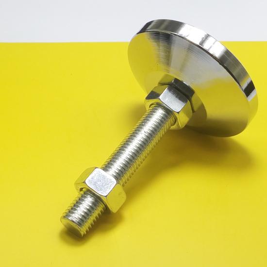 加厚调节脚重型碳钢地脚螺丝镀铬机械机脚支撑金属固定脚杯m16