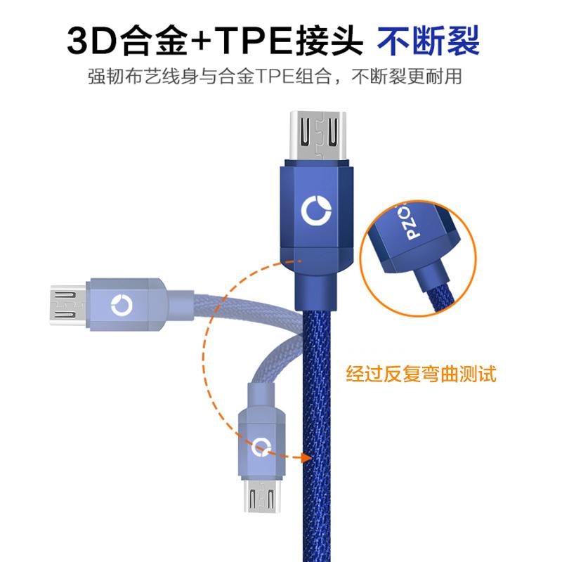 安卓数据线三星高速s6快充加长2红米5a魅蓝note3快速手机充电线器通用Micro USB华为oppo小米vivo单头s7edge