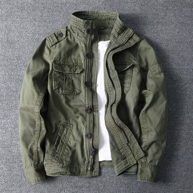 Spring-autumn-winter outdoor training high-necked cotton thick and wear-resistant men's military uniform tooling multi-pocket camouflage jacket jacket