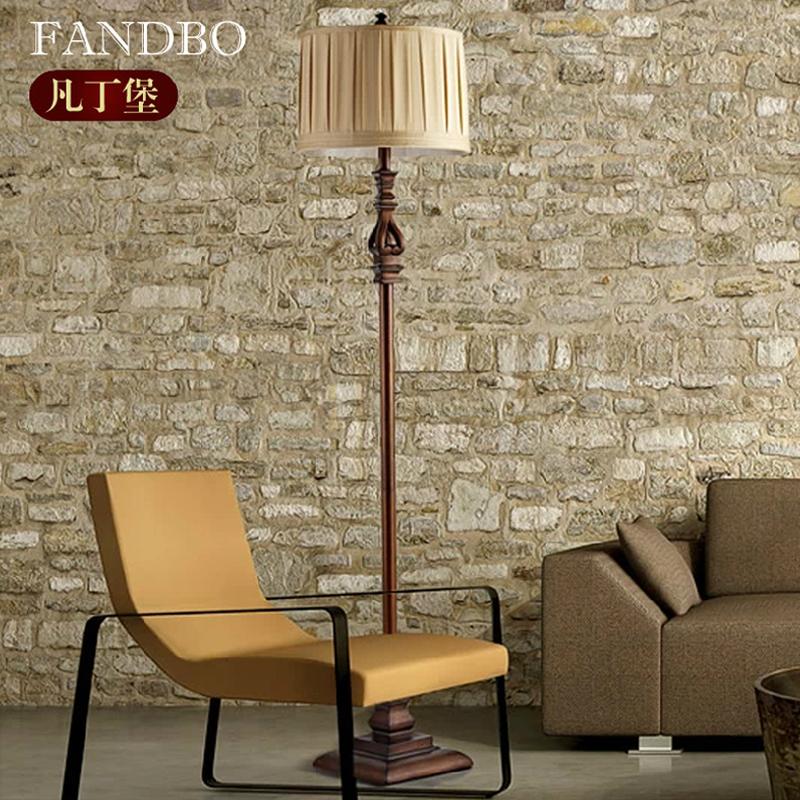 美式落地灯卧室客厅书房立灯复古欧式落地式台灯立式地灯简约遥控