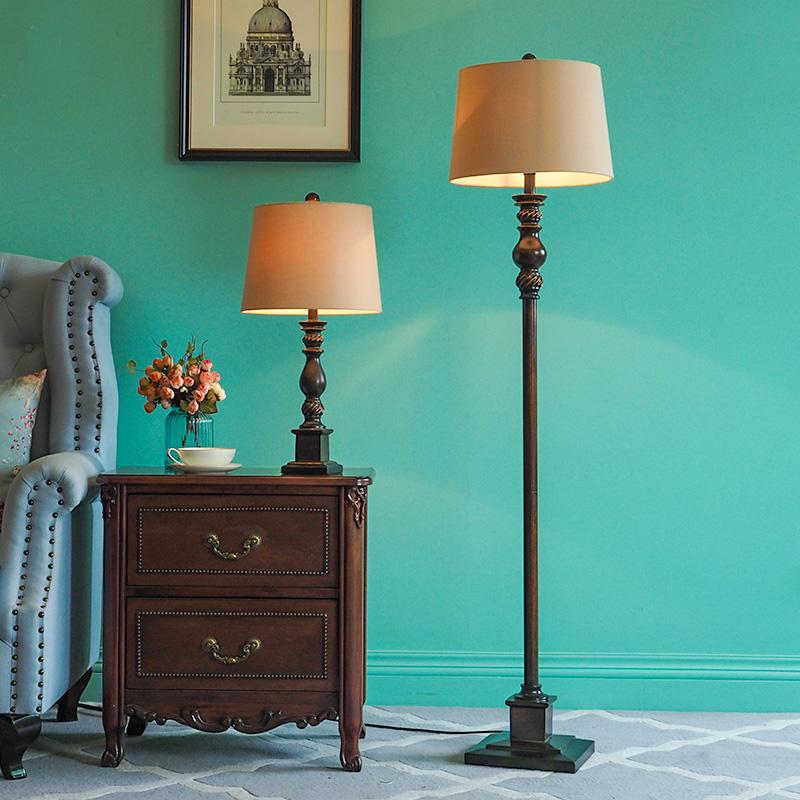 美式落地灯客厅卧室床头简约立式地灯欧式落地台灯床头灯遥控灯具