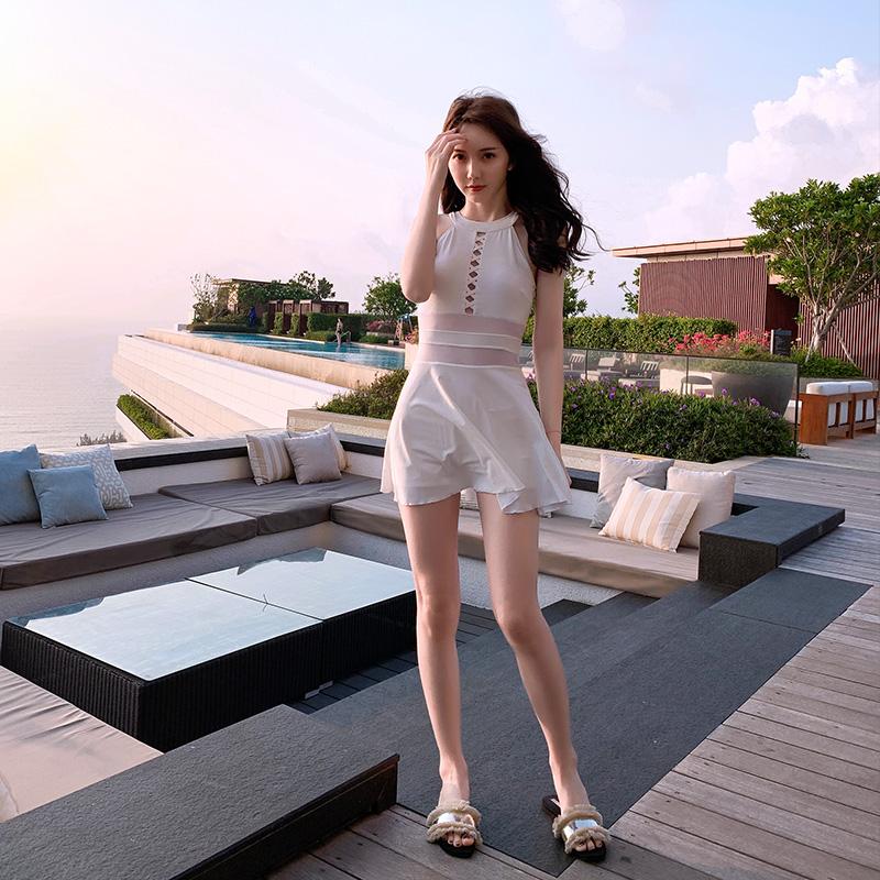 泳衣女遮肚显瘦保守连体韩国ins泳装性感仙女范