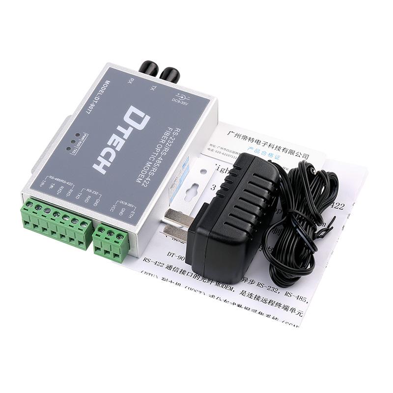 帝特DT-9077 单纤光纤调制解调器rs232  rs485 rs422转光纤光端机
