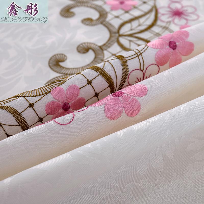 床头柜盖布欧式布艺电视罩盖巾空调防尘罩现代简约ins田园风正方
