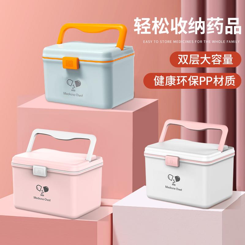 药箱家庭装婴儿童医疗箱全套药物收纳盒小应急大号宝宝医药箱家用