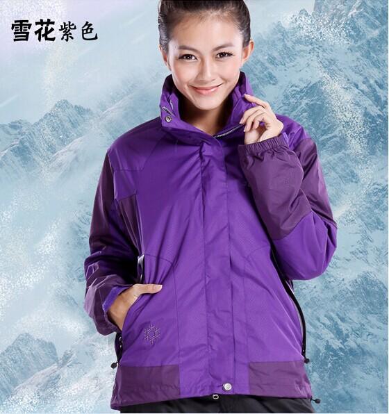 特价绝版雪花西藏抓绒两件套三合一防雨保暖成都滑雪服 冲锋衣女