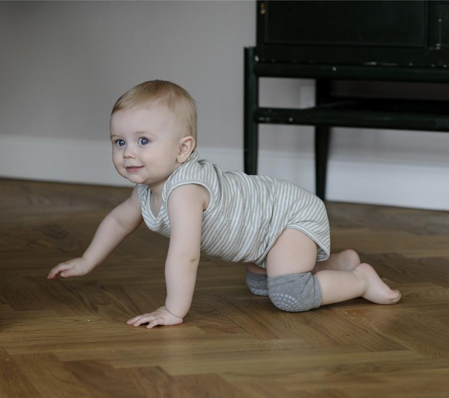 丹麦进口纯棉儿童护膝春夏季宝宝小孩学步婴幼儿爬行室内防摔全棉