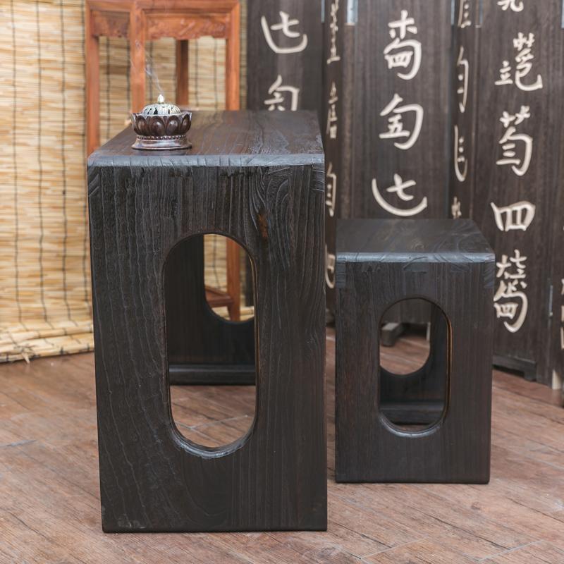 古琴桌凳燕尾榫卯结构铁扇梅花烧桐古琴桌 整套古琴桌 七韵