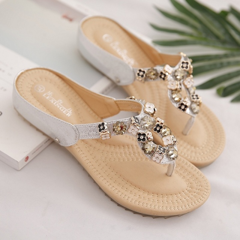 B12夏新款潮人字拖女时尚室外穿韩版软底孕妇海边沙滩学生女拖鞋