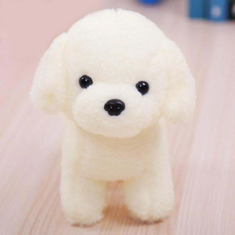 毛绒玩具狗狗白色小狗可爱小泰迪布娃娃公仔玩偶儿童生日礼物女生