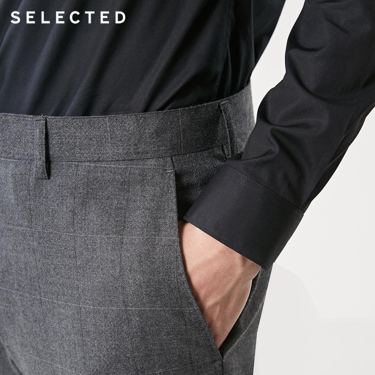 [聚]SELECTED思莱德春季男立领保暖中长款羽绒服外套418412517