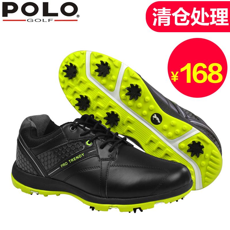 清倉處理 polo golf高爾夫球鞋 男子運動鞋防水防滑球鞋 舒適透氣
