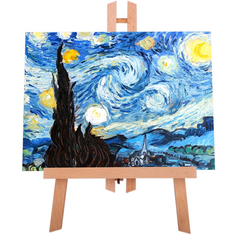 中盛画材 桌面画架桌上画架小画架画架支架式迷你小画架油画架台式折叠支架儿童画画