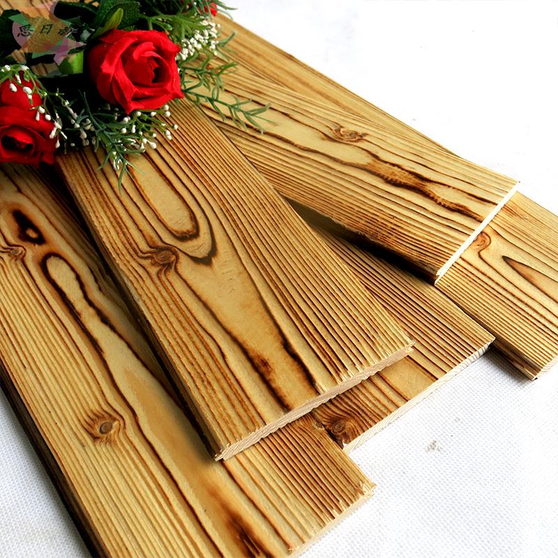 防腐木免漆板碳化木桑拿板 护墙板吊顶墙面装饰材料 阳台实木扣板