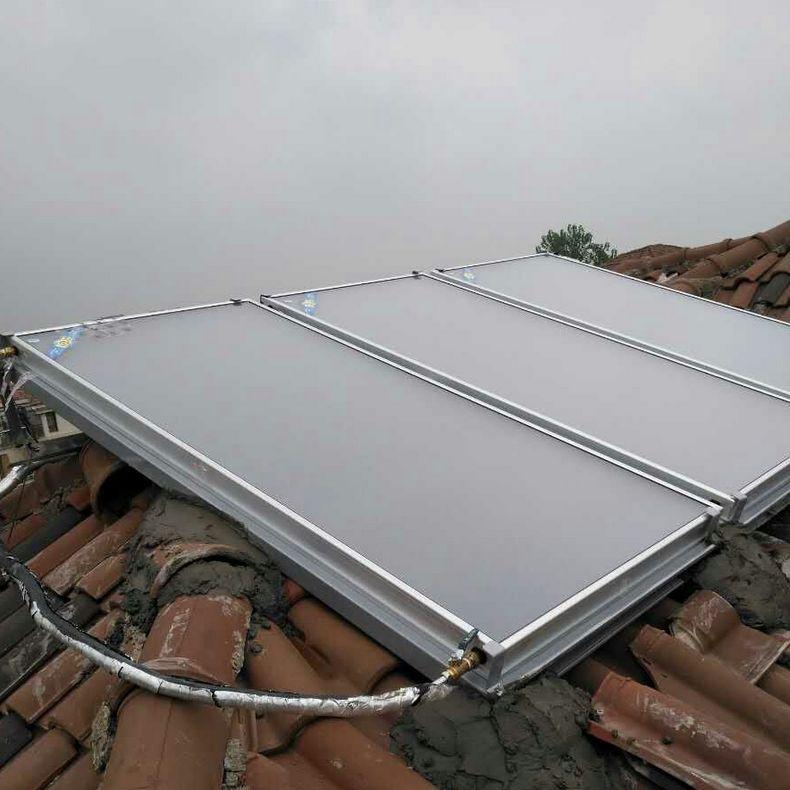桑高平板太阳能集热器分体空气源热泵工程好搭档德国技术送货上门