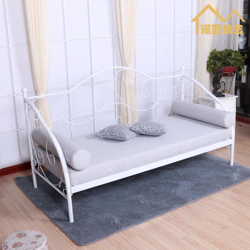 办公铁艺沙发单人家具北欧公主沙发椅 简约现代坐卧两用租房沙发