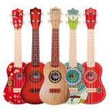 Ukulele beginner children's small guitar toy piano simulation can play girls boys musical instruments student gifts