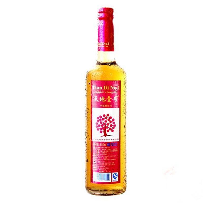 【天猫超市】天地壹号苹果醋650ML/瓶不含咖啡因大都作为佐餐饮料