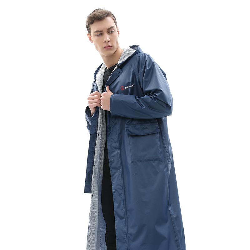 琴飞曼单人长款雨衣全身外套风衣雨披 成人徒步户外时尚防水雨衣