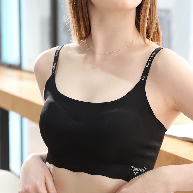 向大大纯色运动套装新品装女无钢圈防震文胸无痕跑步法式内衣