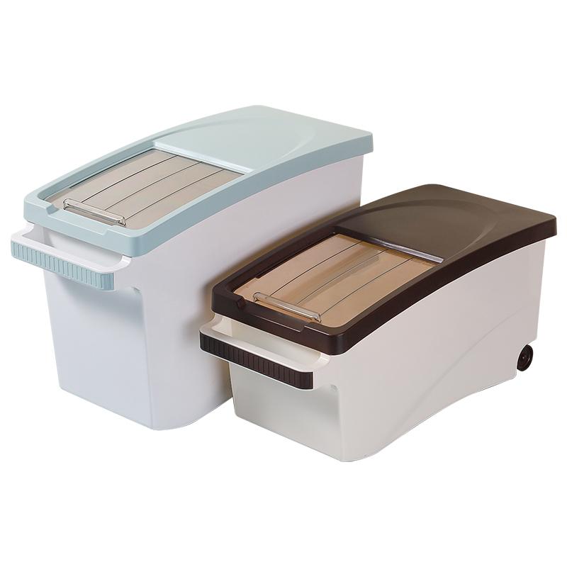 米桶家用厨房面粉大米防虫收纳盒盛20的容器30斤装储米箱罐放米面