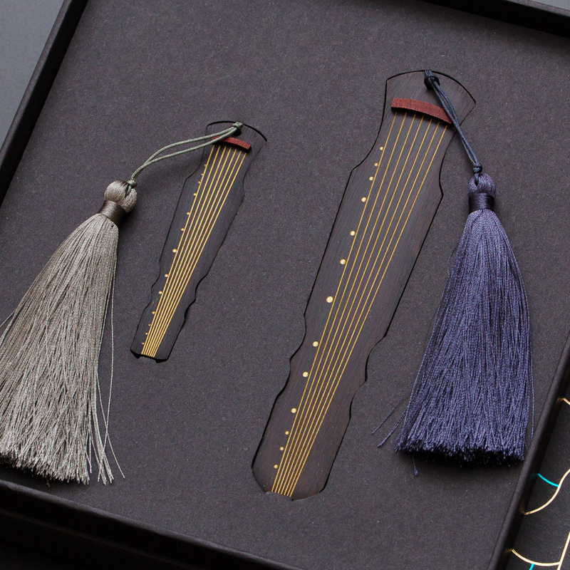古风红木书签套装古典中国风特色文艺礼品 商务木质定制刻字logo