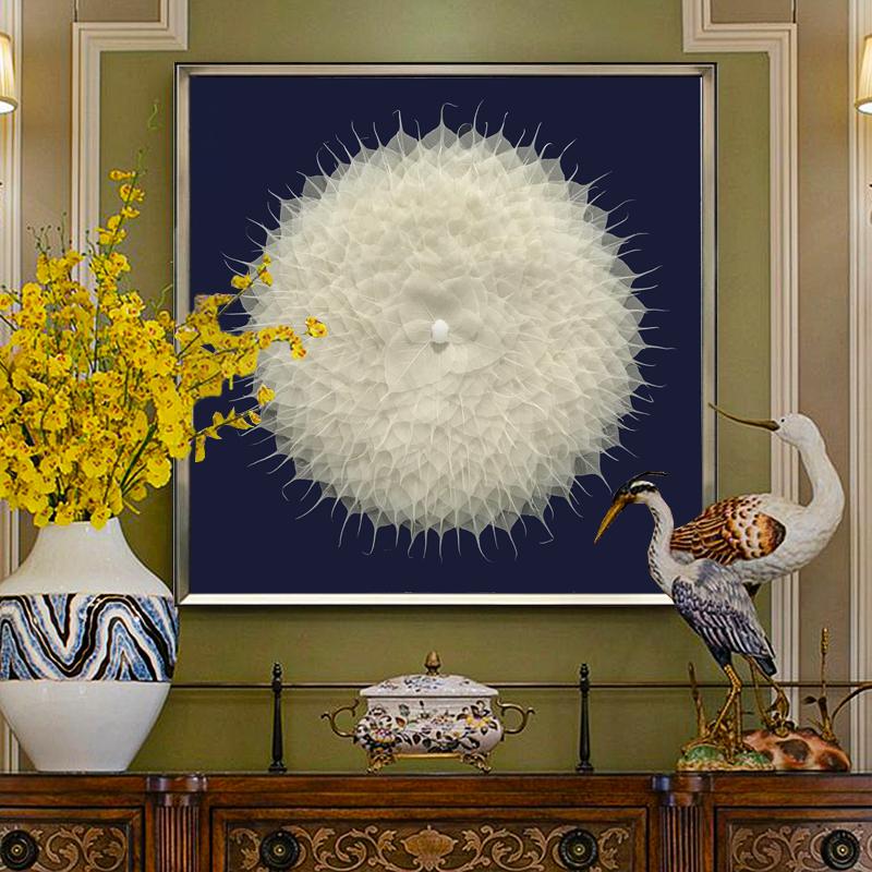 菩提叶装饰画客沙发背景墙画禅意玄关实物画新中式装饰画轻奢挂画