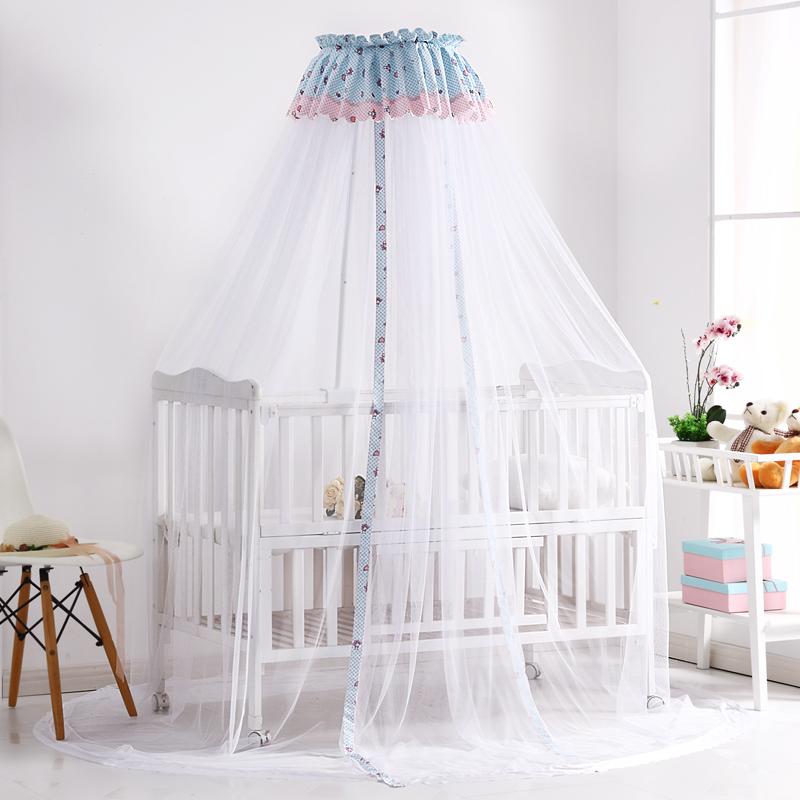 年年好婴儿床蚊帐儿童宝宝防蚊开门式可折叠带支架无底小孩蚊帐罩