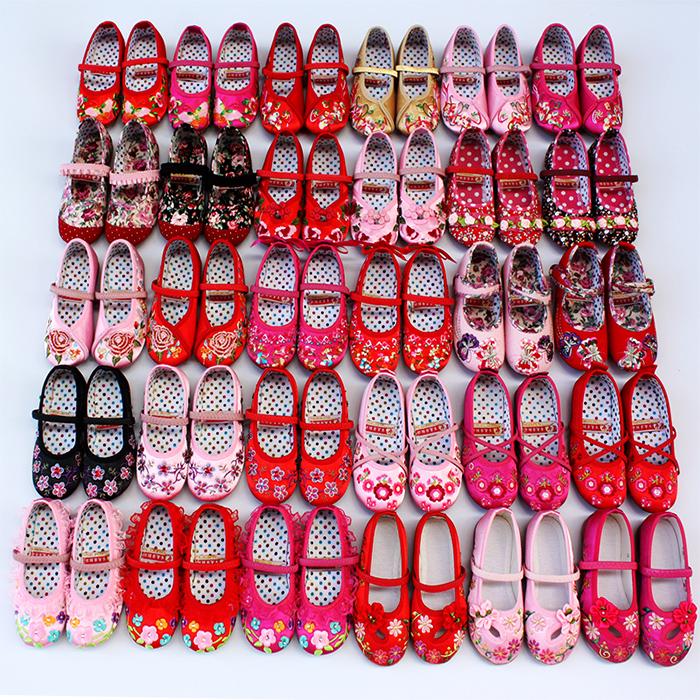 女童绣花鞋老北京儿童布鞋汉服公主鞋民族风幼儿园表演出舞蹈鞋子