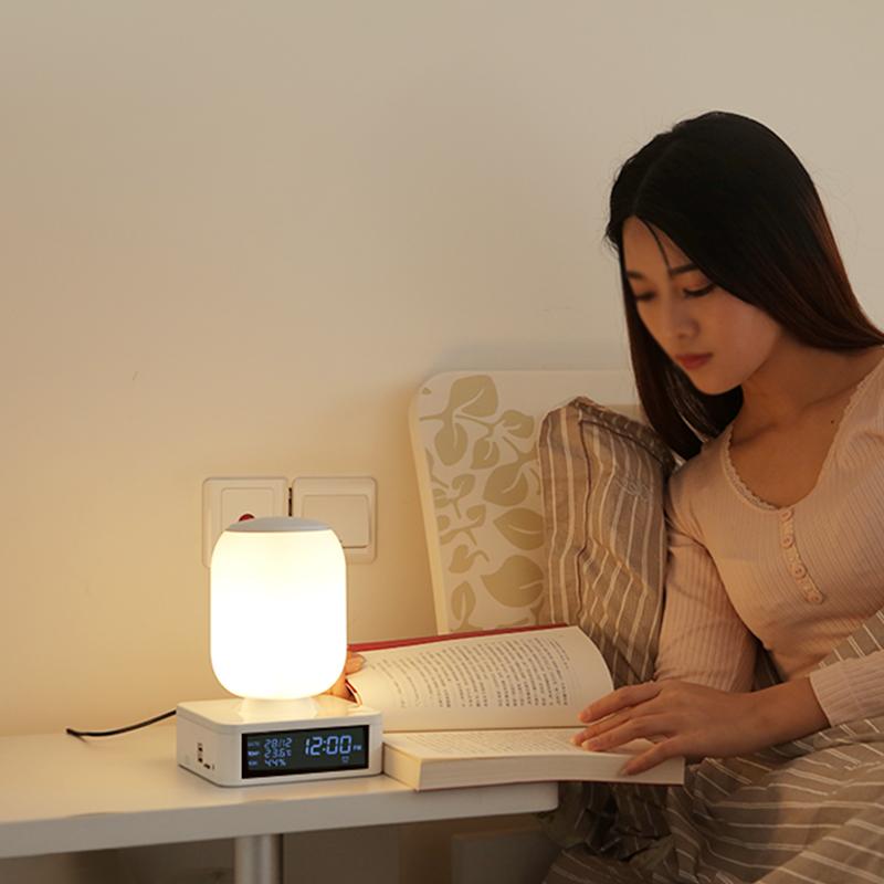 台灯 led 创意床头灯小夜灯智能蓝牙音响低音炮音乐助眠灯卧室护眼