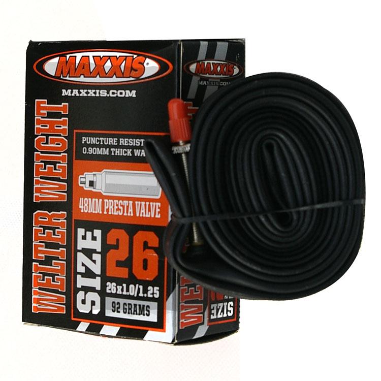 MAXXIS瑪吉斯26寸山地車內胎26X1.0/1.25自行車內胎法嘴48MM 87克