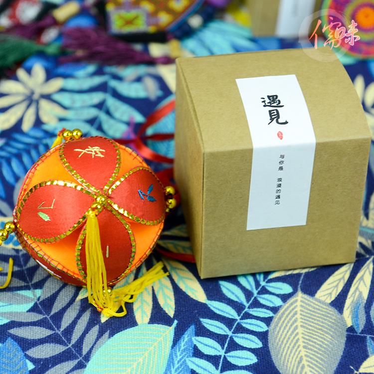 广西民族工艺品 桂林刘三姐壮族手工绣球 婚庆用品饰品12公分包邮
