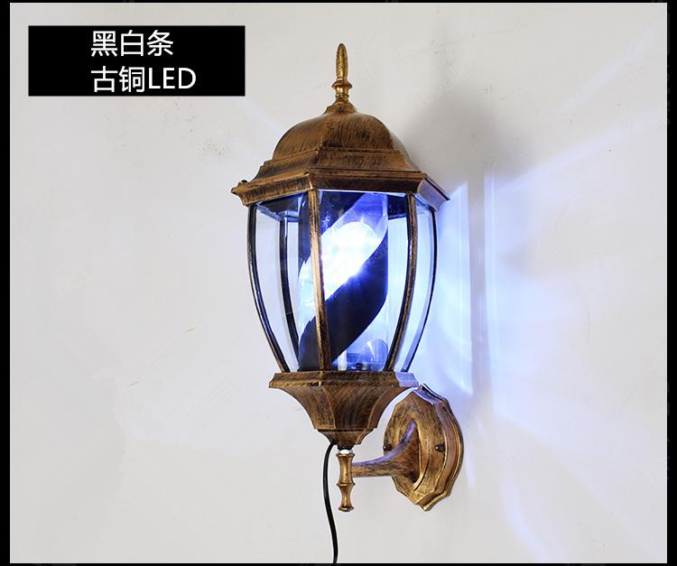 包邮美容美发转灯发廊灯标志灯箱 挂壁广告灯饰 LED宫廷灯罗马灯