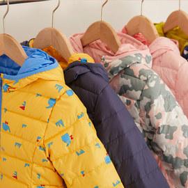 丽婴房童装儿童轻薄两面穿羽绒服男女童宝宝保暖羽绒连帽外套冬款