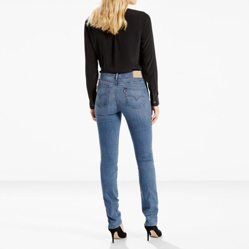 【hjj F 年终】牛仔先锋slimming slim 中腰直筒牛仔裤11优惠券