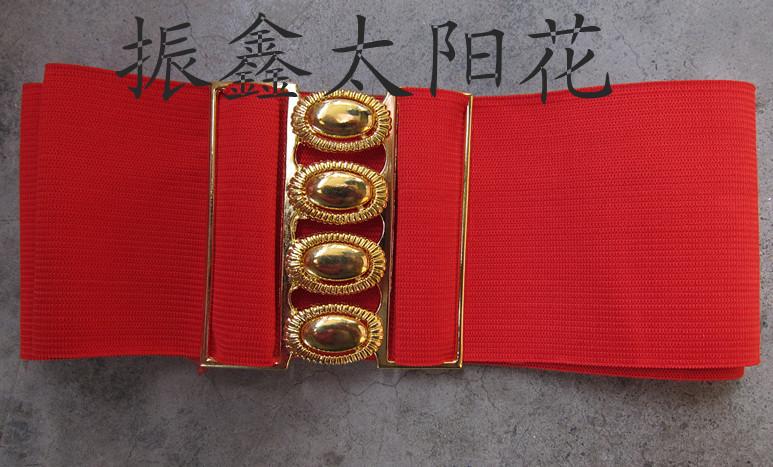 彈力新款紅色鬆緊帶服木蘭服武術服練功服太極拳腰帶