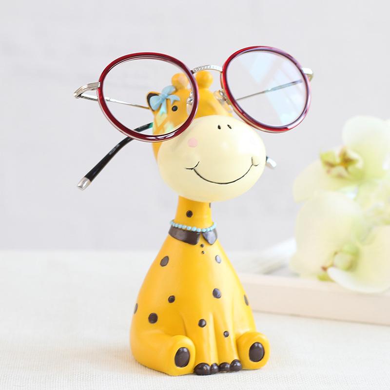 创意可爱动物眼镜搁架眼镜店装饰品办公室摆件礼物桌面眼镜支架