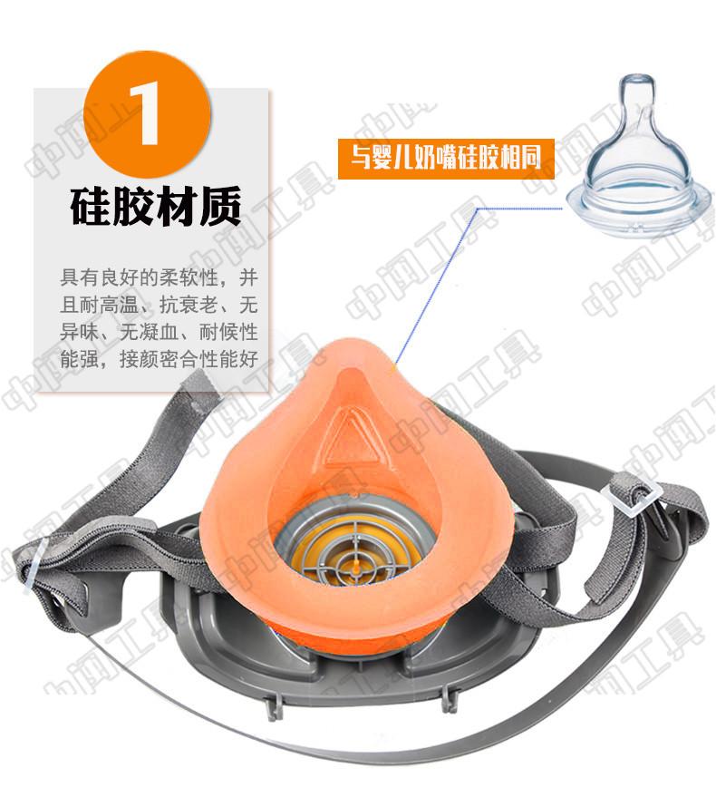 石材石雕防尘口罩硅胶防护呼吸保护耳戴式口罩石材厂施工工地专用