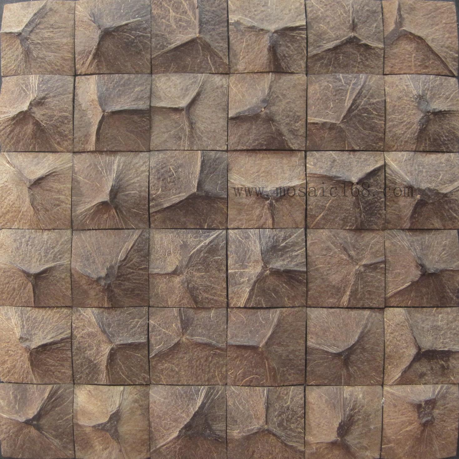【热销】田园风格欧式椰壳马赛克环保建材实木背景墙玄关JH-K10D