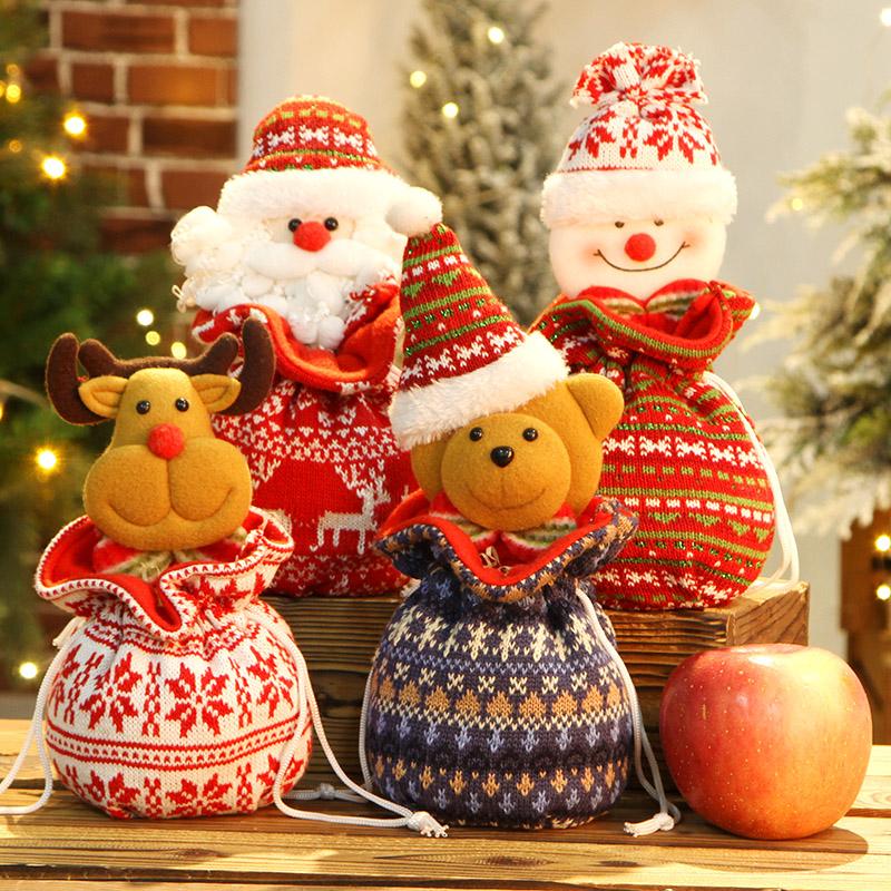 圣诞节礼物袋平安夜苹果包装盒手提袋礼品糖果袋儿童小礼品送女友