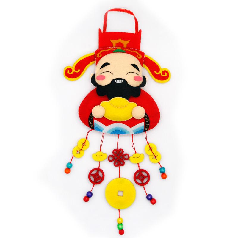 中国风墙壁挂件门挂 不织布儿童手工diy制作装饰品 幼儿园材料包