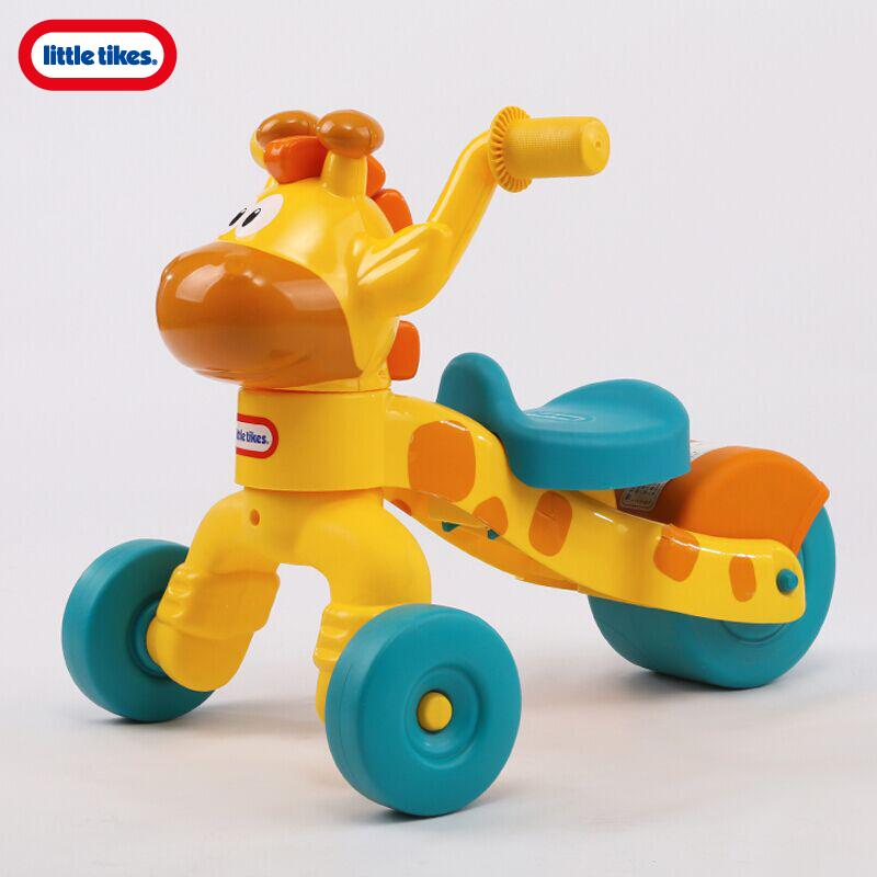 美国小泰克宝宝长颈鹿学步车防侧翻儿童玩具车可坐宝宝滑行车