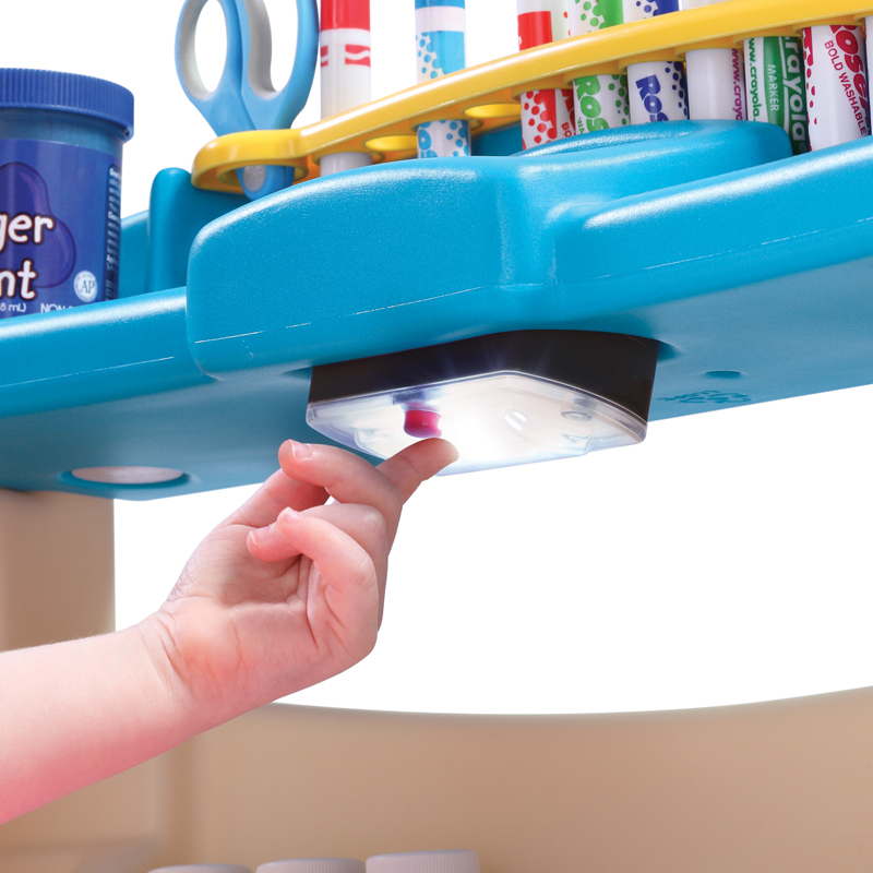美国进口step2儿童家用书画桌写字台宝宝学习桌小艺术家画台2-9