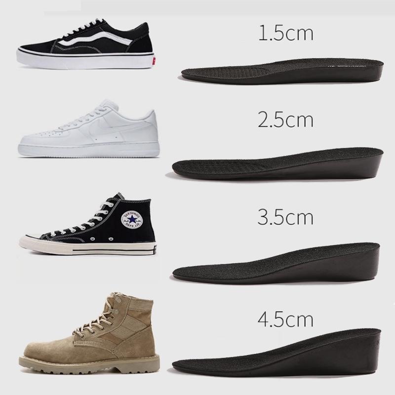 隐型内增高鞋垫半垫女士2 3cm防臭运动休闲鞋男款增高垫5 4cm全垫