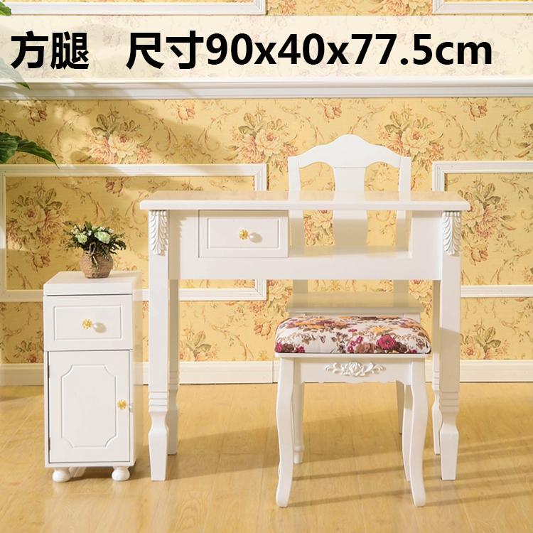 新款欧式方腿 美甲桌单人双人三人位 美甲桌子美甲台欧式美甲桌
